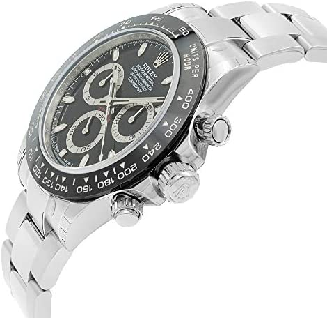 41EqCbANuZL. AC  - ROLEX Cosmograph Daytona Black Dial Stainless Steel Oyster Men's Watch 116500