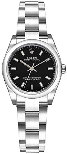 41GDFD0OnsL. AC  - Rolex Oyster Perpetual 26 Black Dial Women's Watch 176200