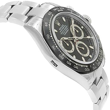 41LCjQa+zLL. AC  - ROLEX Cosmograph Daytona Black Dial Stainless Steel Oyster Men's Watch 116500
