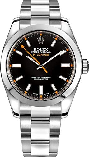 41LKn6FYtcL. AC  - Rolex Milgauss Black Dial 40mm Men's Watch 116400-BLKSDO