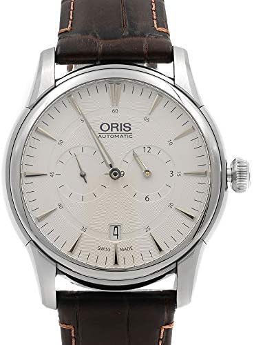 41OhmM 3SLL. AC  - Oris Artelier Automatic Regulator Watch - Mens 40mm Analog Silver Face with Second Hand, Date and Sapphire Crystal - Brown Leather Band Self Winding Swiss Made Luxury Watches for Men 749 7667 4051