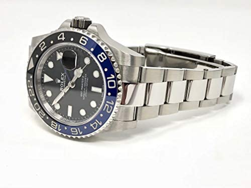 41Yu+DhCJQL. AC  - Rolex GMT Master II Black Dial Stainless Steel Mens Watch 116710 BLNR
