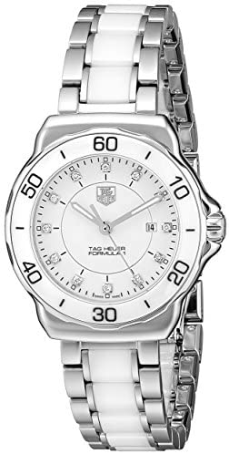 41aMk168PuL. AC  - Tag Heuer Women's WAH1315.BA0868 Formula 1 Stainless Steel Sport Watch with Diamonds