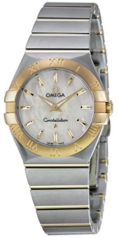 41cJ1BbWDiL. AC  - Omega Constellation Mother of Pearl Stainless Steel and 18kt Yellow Gold Ladies Watch 12320276005002
