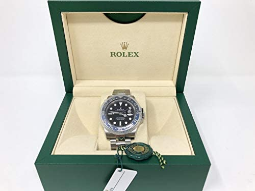 41fKjplQ8rL. AC  - Rolex GMT Master II Black Dial Stainless Steel Mens Watch 116710 BLNR