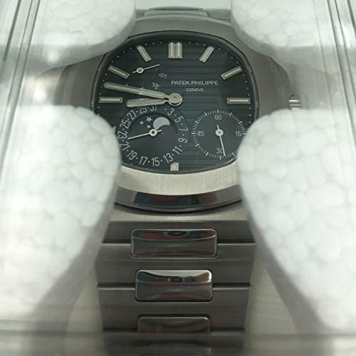 41gg1ZyKPvL. AC  - Patek Philippe Nautilus Moon Phase Blue Striped Dial Steel Watch 5712/1A-001