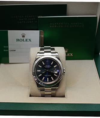 41o6PWYhRsL. AC  - Rolex Datejust Ii 41mm Steel Blue Dial Men's Watch 116334