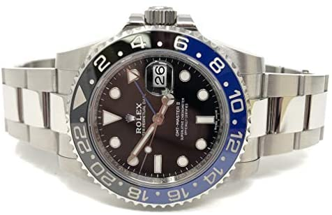 41oAE1KmCQL. AC  - Rolex GMT Master II Black Dial Stainless Steel Mens Watch 116710 BLNR