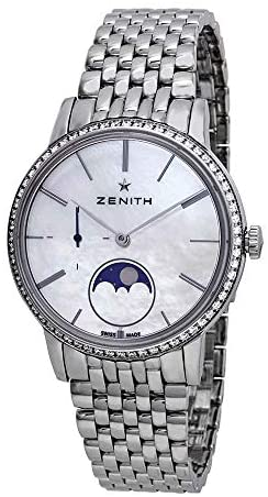 41sYT9PQAnL. AC  - Zenith Elite Automatic White Mother of Pearl Dial Ladies Watch 16.2320.692/80.M2320