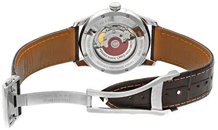 41xN46xCd6L. AC  - Oris Artelier Automatic Regulator Watch - Mens 40mm Analog Silver Face with Second Hand, Date and Sapphire Crystal - Brown Leather Band Self Winding Swiss Made Luxury Watches for Men 749 7667 4051