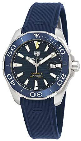 41ynYLb8NYL. AC  - Tag Heuer Aquaracer Calibre 5 Automatic Blue Dial Mens Watch WAY201B.FT6150