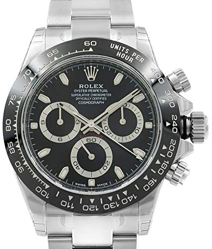 51+2lf 39vL. AC  - ROLEX Cosmograph Daytona Black Dial Stainless Steel Oyster Men's Watch 116500