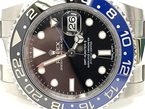 51+lAtexgKL. AC  - Rolex GMT Master II Black Dial Stainless Steel Mens Watch 116710 BLNR