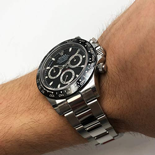 51HXtBzLTDL. AC  - ROLEX Cosmograph Daytona Black Dial Stainless Steel Oyster Men's Watch 116500