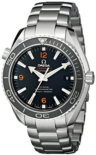 51LnKYKJNuL. AC  - Omega Men's 232.30.42.21.01.003 Planet Ocean Analog Automatic Self Wind Black Dial Watch