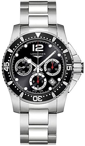 51MEELQ60UL. AC  - Longines HydroConquest - L3.744.4.56.6 - Divers Chronograph Black Dial Automatic Men's