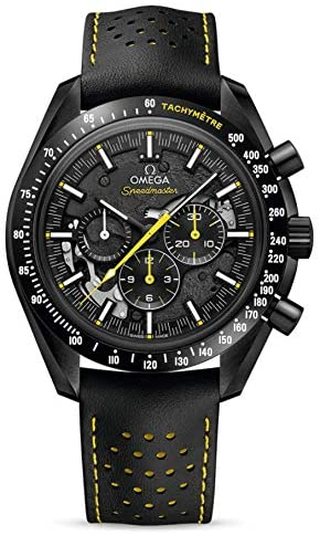 51XheO9NVPL. AC  - Omega Speedmaster Apollo 8 Dark Side of The Moon Special Skeleton Yellow Highlights