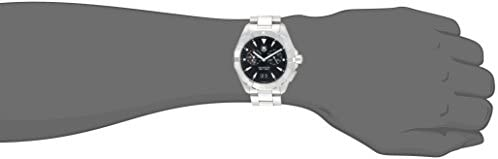 21O86gpvQ6L. AC  - Tag Heuer Aquaracer Chronograph Black Dial Stainless Steel Mens Watch WAY111Z.BA0928