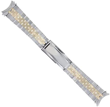 31 rCFTjqgL. AC  - Jubilee Watch Band Compatible with Rolex Men Datejust 1601 1603 16013 Real Gold 14K/Ss 20mm
