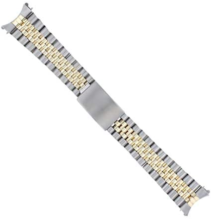 31Vus9ppJCL. AC  - Jubilee Watch Band Compatible with Rolex Men Datejust 1601 1603 16013 Real Gold 14K/Ss 20mm