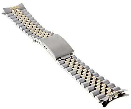 31dsAd9k7BL. AC  - Jubilee Watch Band Compatible with Rolex Men Datejust 1601 1603 16013 Real Gold 14K/Ss 20mm