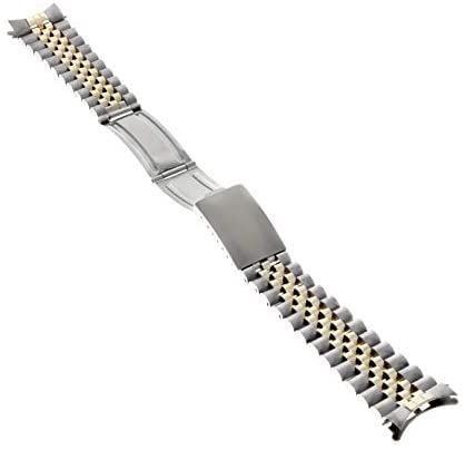 31txDyUR7VL. AC  - Jubilee Watch Band Compatible with Rolex Men Datejust 1601 1603 16013 Real Gold 14K/Ss 20mm