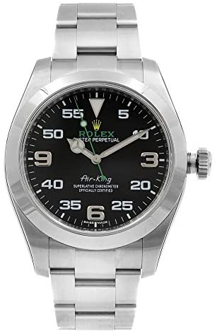 41+NH0YuUUL. AC  - Rolex Air King Black Dial Stainless Steel Mens Watch 116900BKAO