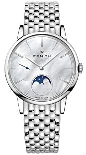 411Pee38ZnL. AC  - Zenith Elite Lady Moonphase Automatic White Mother of Pearl Dial Ladies Watch 03.2320.692/80.M2320