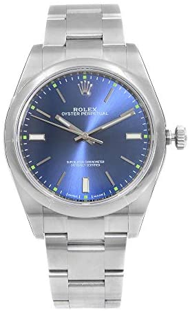 41DpZoo1XOL. AC  - Rolex Oyster Perpetual 39 Automatic Blue Dial Men's Watch 114300BLSO