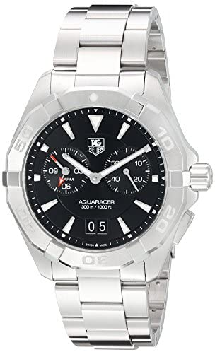 41EVhAM2viL. AC  - Tag Heuer Aquaracer Chronograph Black Dial Stainless Steel Mens Watch WAY111Z.BA0928