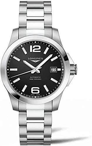 41KSXSdNmTL. AC  - Longines Conquest Black Dial Stainless Steel Automatic Mens Watch L3.776.4.58.6