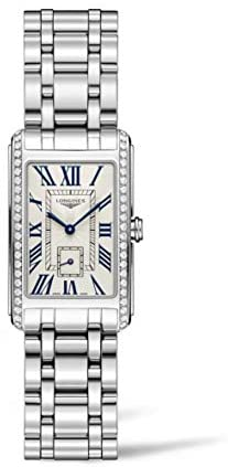 41OOKsZNQ7L. AC  - Longines Dolce Vita Stainless Steel & Diamond Womens Watch Silver Dial L5.512.0.71.6
