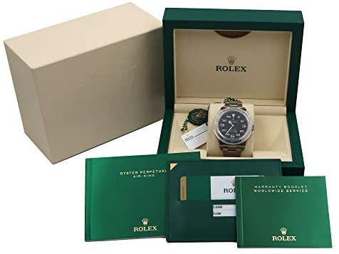 41TAnTW+PhL. AC  - Rolex Air King Black Dial Stainless Steel Mens Watch 116900BKAO
