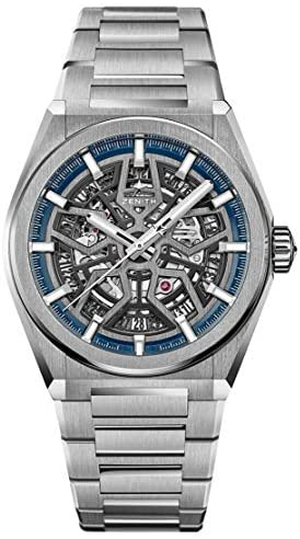 41Wmse9nwGL. AC  - Zenith Defy Classic Blue Skeletonised Movement Watch 95.9000.670/78.M9000