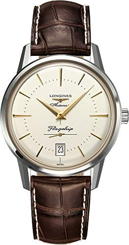 41ctFlW7W8L. AC  - Longines Flagship Heritage Automatic Stainless Steel Mens Luxury Strap Watch Calendar L4.795.4.78.2