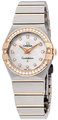 41f Sa3LtBL. AC  - Omega Constellation Diamond Mother of Pearl Dial Rose Gold and Steel Ladies Watch 12325276055001