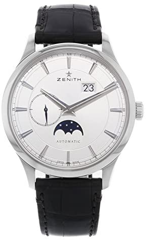 41iIwDTtcoL. AC  - Zenith Captain Moonphase Silver Dial Automatic Mens Watch 03214369101C498
