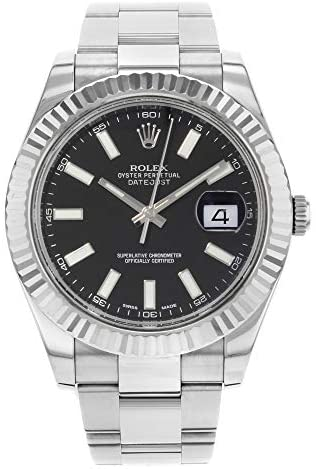 41jG8xbntZL. AC  - Rolex Datejust II 41 116334 Black Dial Men's Luxury Watch