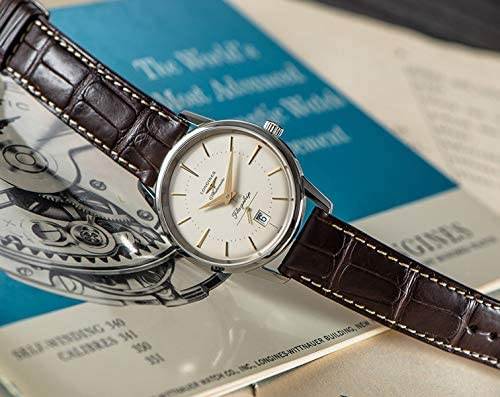 510S90OeanL. AC  - Longines Flagship Heritage Automatic Stainless Steel Mens Luxury Strap Watch Calendar L4.795.4.78.2