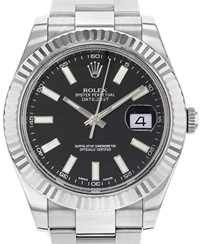512eRz1X6lL. AC  - Rolex Datejust II 41 116334 Black Dial Men's Luxury Watch