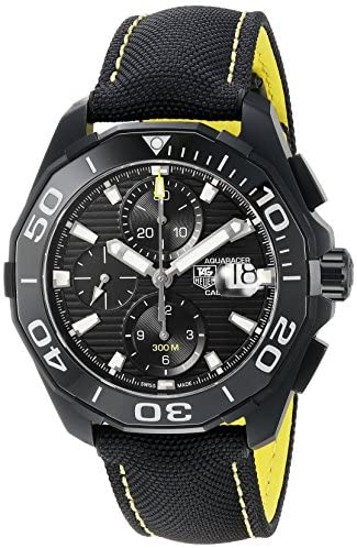 5176rmp EcL. AC  - Tag Heuer Aquaracer Black Dial Auotomatic Mens Watch CAY218A.FC6361