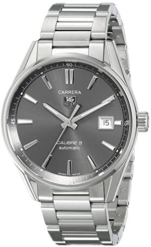 51At2V9L91L. AC  - TAG Heuer Men's WAR211C.BA0782 Carrera Analog Display Swiss Automatic Silver Watch