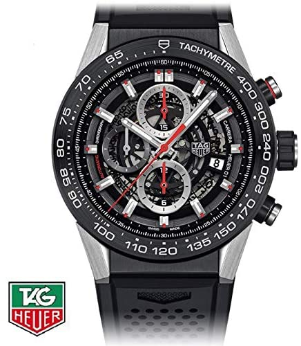 51Dl3VPYGVL. AC  - Tag Heuer Carrera Calibre Heuer 01 Automatic Skeleton Dial Mens Watch CAR2A1Z.FT6044