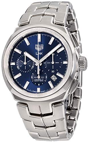 51NG1oQDDhL. AC  - Tag Heuer Link Blue Dial Stainless Steel Men's Watch CBC2112.BA0603