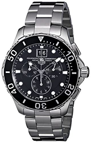 51XKqa6+lZL. AC  - TAG Heuer Men's CAN1010BA0821 Aquaracer Stainless Steel Chronograph Watch