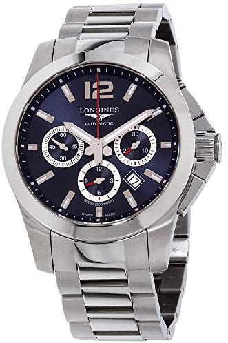 51u2Jzw+SkL. AC  - Longines Conquest Chronograph Blue Dial Stainless Steel Men's Watch L38014966