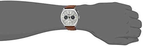 21V3XINmt+L. AC  - Alpina Men's Startimer Pilot Heritage Stainless Steel Swiss Automatic Aviator Watch with Leather Calfskin Strap, Brown, 23 (Model: AL-727SS4H6)