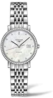 31CjV7iPt3L. AC  - Longines Elegant Collection Stainless Steel Automatic Ladies Watch L43100876
