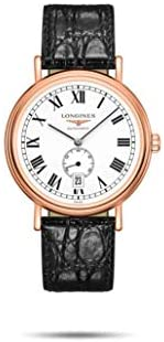 31D6qTBppwL. AC  - Longines Presence Rose Gold, White Dial with Roman Numbers, Black Leather L4.905.1.11.2