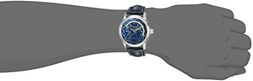 31QrV2FnwiL. AC  - Frederique Constant Men's Worldtimer Manufacture Stainless Steel Automatic-self-Wind Watch with Leather-Alligator Strap, Blue, 22 (Model: FC-718NWM4H6)